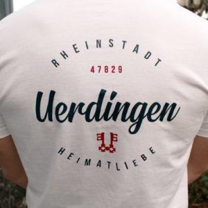 T-Shirt Uerdingen Rheinstadt Heimatliebe Off-White